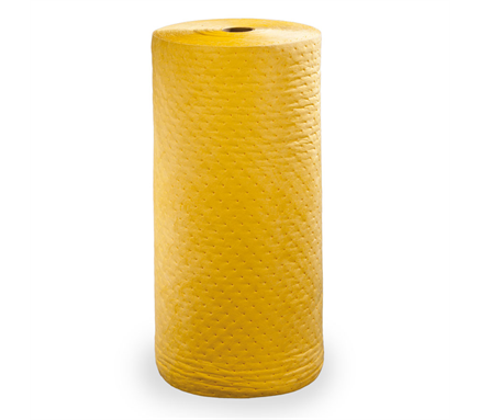 "136 Liter 286 g/m2 smelteblæst Gul Rulle absorbent 76cm x 46m (30 ""x 150"") 1 rulle"